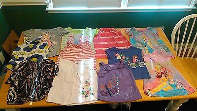 Lot of 3T Toddler Girls Summer Shirts 11 Used Items