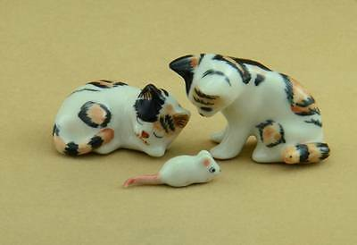 New Sleeping Cat, Standing Cat Calico And Sneaky Mouse, So Cute *mint*