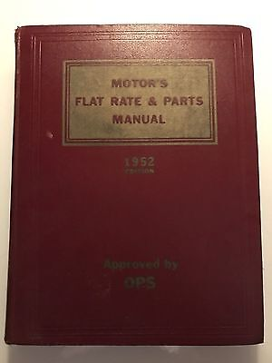 Vintage Pre-Owned 1952 Motor's Flat Rate & Parts Manual