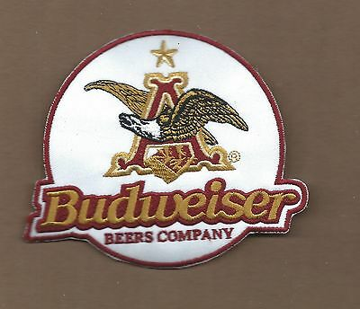 New 4 X 4 7/8 Inch Budweiser Iron On Patch Free Shipping