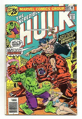 Incredible Hulk Vol 1 No 201 Jul 1976 (VFN-) Marvel, Bronze Age (1970 - 1979)