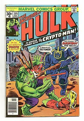 Incredible Hulk Vol 1 No 205 Nov 1976 (VFN) Marvel, Bronze Age (1970 - 1979)