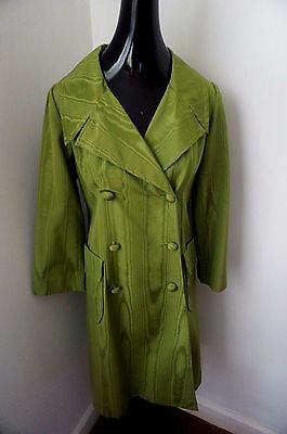 VINTAGE 60s Women Couture SAKS FIFTH AVENUE Jacket GREEN SZ SMALL