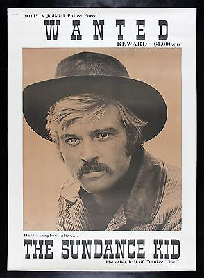 BUTCH CASSIDY AND THE SUNDANCE KID CineMasterpieces MOVIE POSTER ROBERT REDFORD