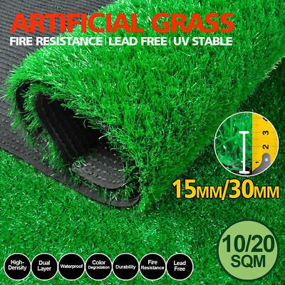 10/20/40SQM 30mm Thick Synthetic Grass Artificial Turf Plastic Fake Plant Lawn