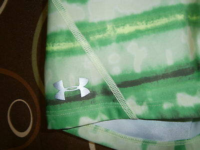 under armour neary new EUC green pattern running shorts