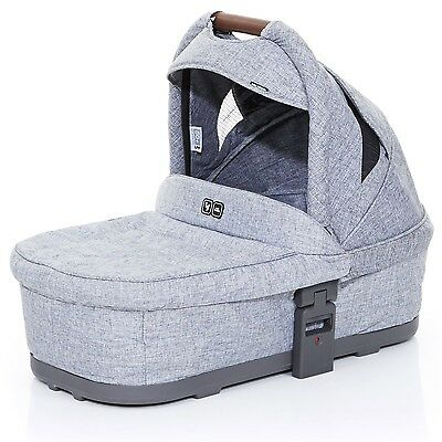 ABC Design Baby Carrycot Plus - From Birth to 6 Months - Graphite Grey