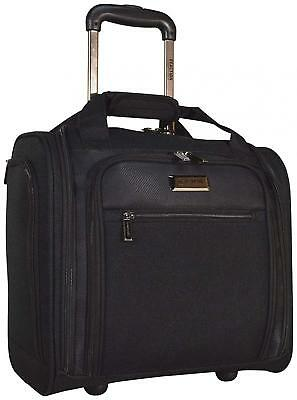 Carry On Travel Underseat Bag Wheeled Luggage W/ Rolling Wheels Airport Black