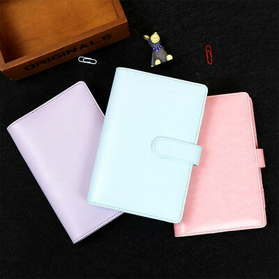 Macaron Leather Spiral Notebook A6 Office Person Binder Weekly Planner notebook