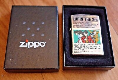 Rare Vintage J XIV Japan Lupin The 3rd Anime Unfired Limited Edition Zippo W/Box