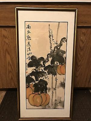 vintage antique Chinese watercolor painting