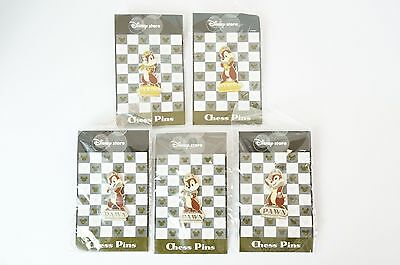Disney Store JAPAN Pin Chess Series Chip Pawn Gold & Silver Costume 5 Piece JDS