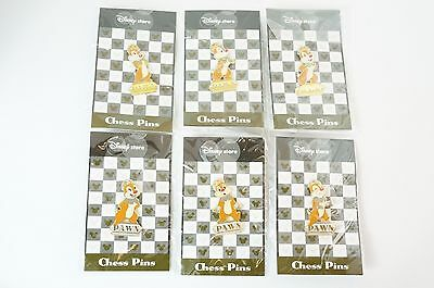 Disney Store JAPAN Pin Chess Series Dale Pawn Gold & Silver Costume 6 Piece JDS