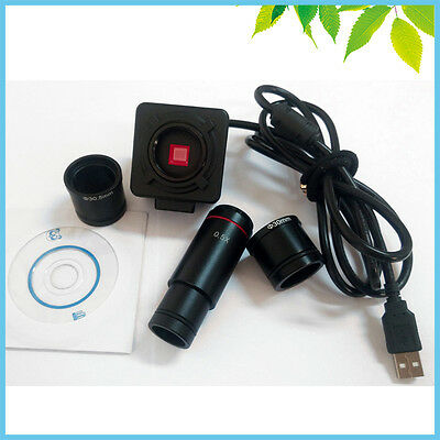 5MP Microscope Digital  Electronic Eyepiece Video Camera with 0.5X Lens