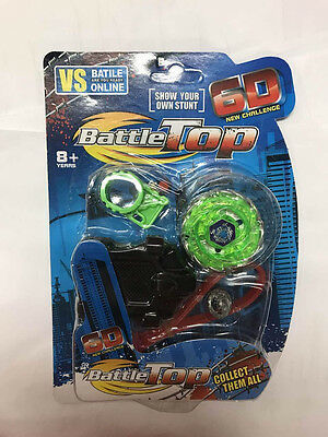 4x 6D Beyblade Starter Set Fusion Top Metal Master Rapidity Fight Launcher Toy