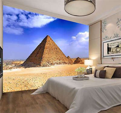 Amazing Egyptian Pyramid Full Wall Mural Photo Wallpaper Print Kid Home 3D Decal