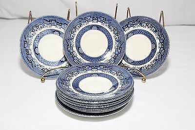 Churchill Blue Willow Saucers Set of 10