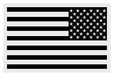 """Black American Flag REVERSED Very Small Reflective Decal (1.25"""" & 2"""" approx)"""