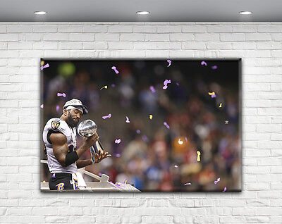 Ed Reed Print Canvas Baltimore Ravens