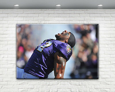 Ray Lewis Print Canvas Baltimore Ravens