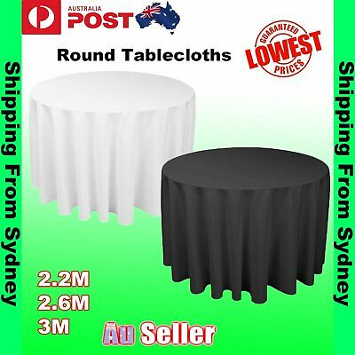 Tablecloths Round Wedding Event White Tablecloth Table Cloth Cover Banquet Party