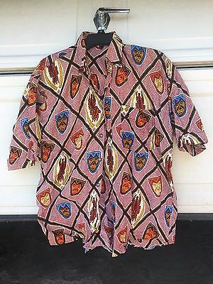 African shirt | Men's | Ankara Print collared Button | casual | Mask Motifs
