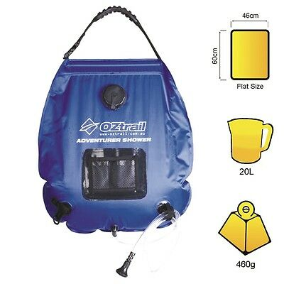 OZtrail Adventurer Camp / Camping Outdoor Solar Shower - 20L  OZTMPEA-SSD-A