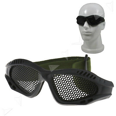 Tactical Military Metal Mesh Goggles Shooting Glasses Airsoft Mask