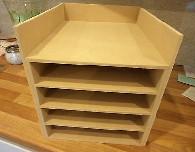 "Hand Crafted Freestanding Mdf Paper Storage unit (suitable for 12""card/paper)"