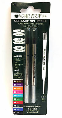 Monteverde Ceramic Gel Refill for Parker Style Pens - P422 - Black Ink