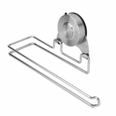 304 Stainless Steel Suction Cup Toilet Paper Tissue Roll Holder Towel Dispenser