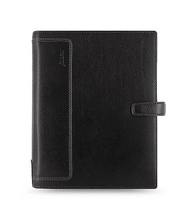 Filofax A5 Size Holborn Organiser Notebook Diary Book Black Leather 025118