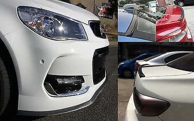 Holden Cruze Captiva Carbon Fiber Look Front Bumper Lip & Rear Boot Spoiler Lip