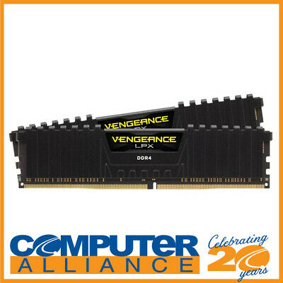 16GB DDR4 Corsair (2x8GB) CMK16GX4M2A2400C14 2400MHz Vengeance LPX BLACK RAM