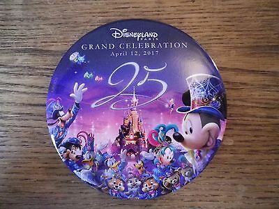 Badge Pin's Pog commémoratif 25 ans Disneyland Paris (12/04/2017)