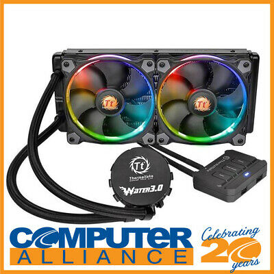 Thermaltake Water 3.0 Riing RGB 240 Liquid CPU Cooler PN CL-W107-PL12SW-A