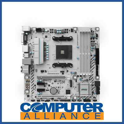 MSI AM4 MicroATX B350 Mortar Arctic Motherboard