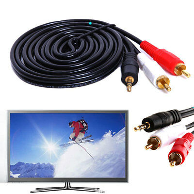 3.5mm Stero Male Plug to Dual 2RCA Jack Cable Stereo PC Audio Splitter Set Kit