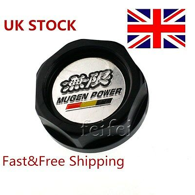 UK STOCK Black MUGEN Engine Oil Filler Tank Cap Cover Fit Honda Civic Accord