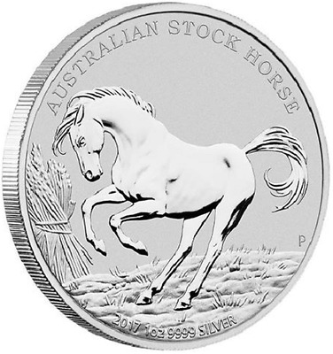 AUSTRALIE 1 Dollar Argent 1 Once Cheval 2017 - 1 Oz silver coin Stock Horse