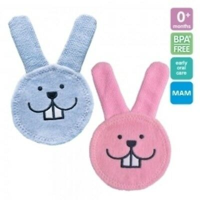 MAM Oral Care Rabbit Teething Cloth Teething Aid Baby Pacifier Soother Weaning