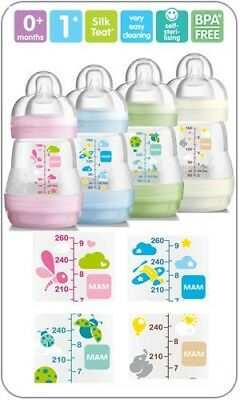 MAM Self Sterilising Anti Colic Bottle Single 160ml BPA Free Newborn Baby Bottle