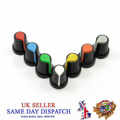 6mm Small Push on Knob for Potentiometer Plastic Cap Different Colors 17mm