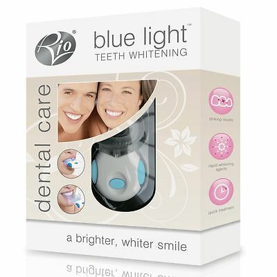 Rio Dental Care Blue Light Home Teeth Whitening Kit Device Brighter Whiter Smile