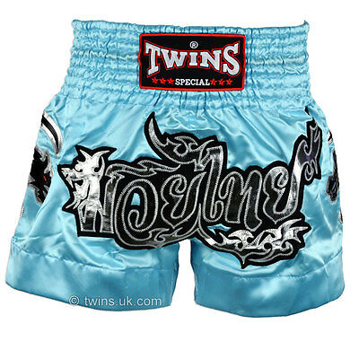 Twins Special Sky Blue Muay Thai Boxing Shorts - TWS-867