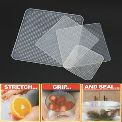 TV Re-usable Keep Food Stretch and Fresh Food Wraps Silicone Bowl Covers Wrap CE