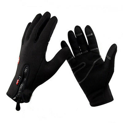 Motorbike Black Gloves Motorcycle Waterproof Windproof Leather Gloves Unisex