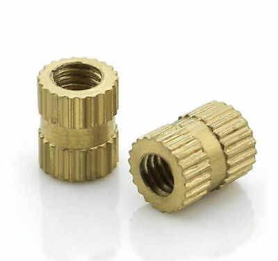 Brass M4 M5 M6 M8 Insert Threaded Decorative Embedded Knurled Nut