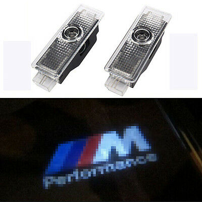 2pcs LED Car Laser Shadow Projector Logo ///M PERFORMANCE Door Lights for BMW
