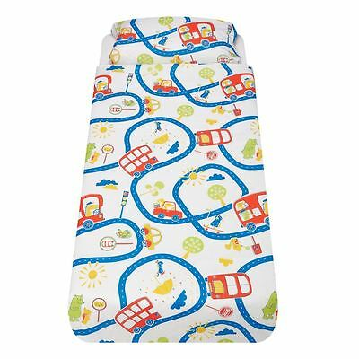 Wheels on the Bus Single Bed/Pillow Set - The Gro Company Gro-to-Bed 100% Cotton